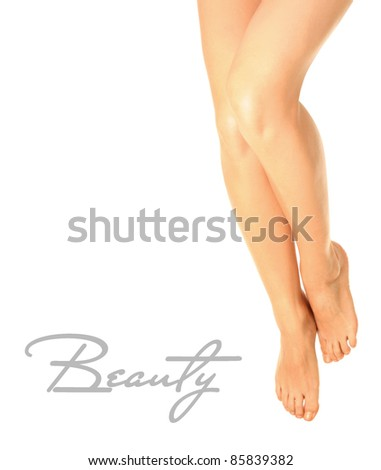 Beautiful legs on white background
