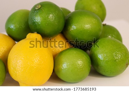 Beautiful lemons arranged on a table. A fruit rich in vitamin c.