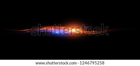 Beautiful light flares. Glowing streaks dark background. Luminous abstract sparkling lined background. Light effect wallpaper. Elegant style.  Сoncert light