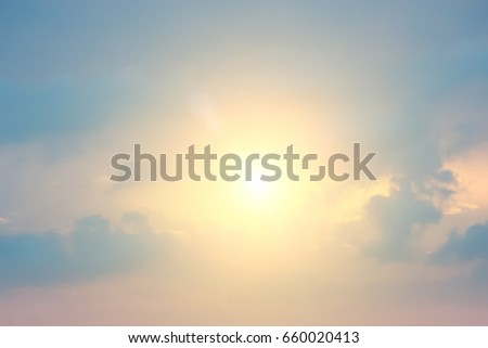 Beautiful light from the nature at sunset every day. #660020413