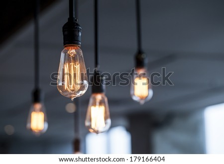 beautiful lighting decoration - Shutterstock ID 179166404