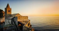 Beautiful Ligurian coast of Italy .Portovenere. Cinque terre