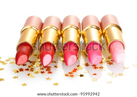 beautiful lipsticks isolated on white #95992942