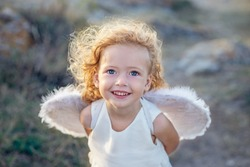 Beautiful little angel girl