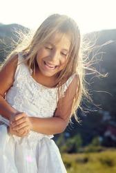 beautiful little bridesmaid