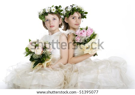 Beautiful little bridesmaids