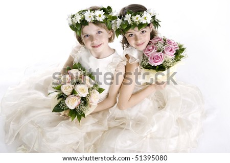 Beautiful little bridesmaids