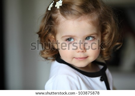 Beautiful Little Girls With Curly Hair Beautiful Little Girl With