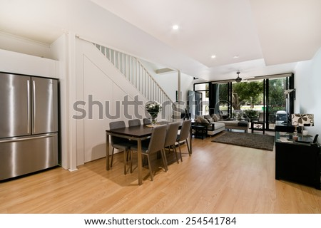 Beautiful Living room Architecture Stock Images #254541784