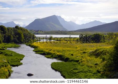 Beautiful Lofoten Norway #1194461146