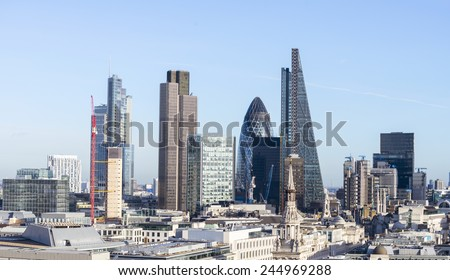 Beautiful London skyline
