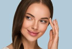 Beautiful long hair woman healthy skin  young model