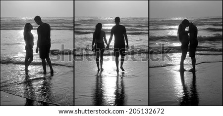 Beautiful love couple on the beach #205132672