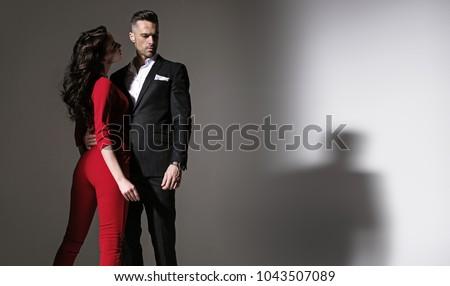Beautiful loving couple posing