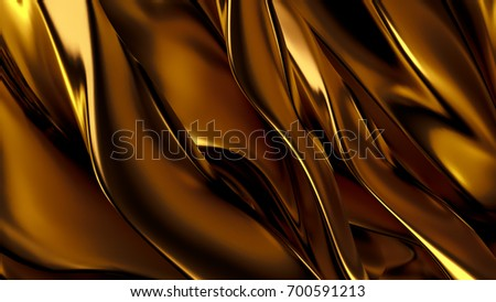 Beautiful, luxurious, luxury golden background. 3d illustration, 3d rendering.