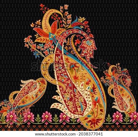 Beautiful Luxury Decorative Seamless Paisley floral  mughal art pattern illustration artwork
