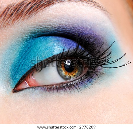 beautiful make up of the turquoise eye