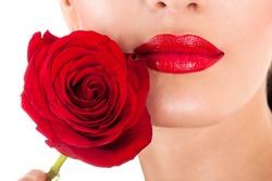 beautiful makeup and lipstick fashion model
