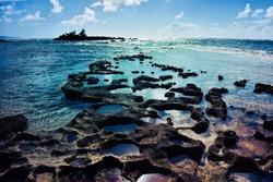 Beautiful Malaekahana beach , northshore Oahu Island, Hawaii USA