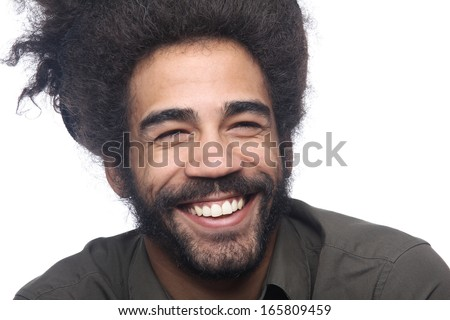 Beautiful man smiling