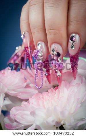 beautiful manicure of hands