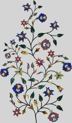 Beautiful marble mosaic design of flower