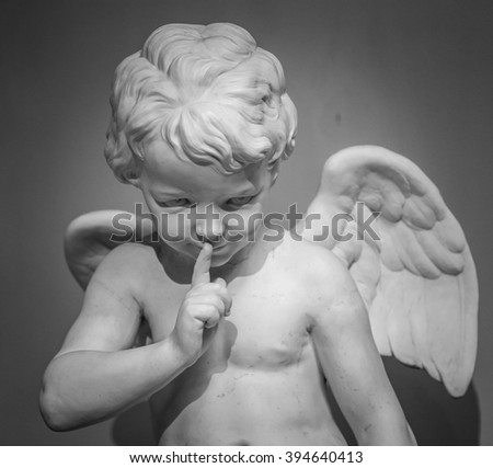 Beautiful marble statue of angel