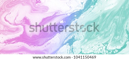 Beautiful marble texture. Pastel paints. Abstract background for posters, cards, invitations, wallpapers, websites. Modern art. Trendy design. Hand painted image. #1041150469