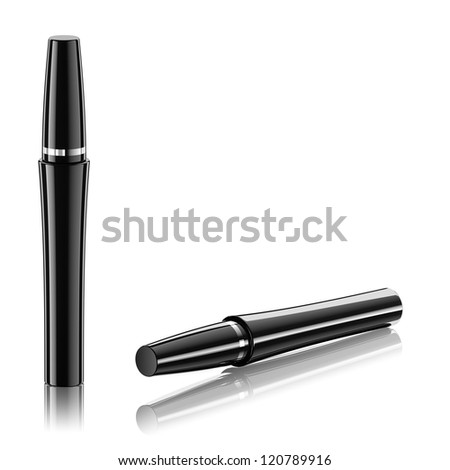 Beautiful mascara for awesome lashes - stock photo