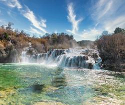 Beautiful massive waterfall