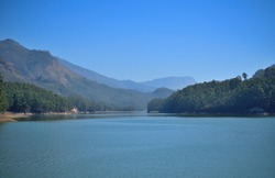 Beautiful Mattupetty dam in Munnar.