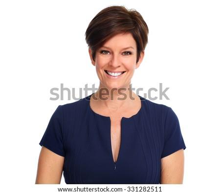 beautiful mature business woman ...