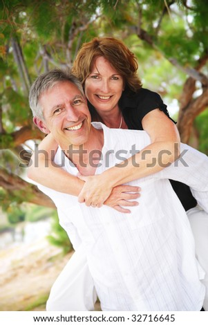 stock photo : beautiful mature couple in love