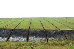 Beautiful meadow from the Banasura sagar dam in Western Ghats, Kerala, extreme long shot