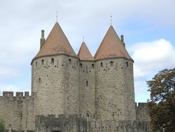 Beautiful medieval castle in Languedoc, France