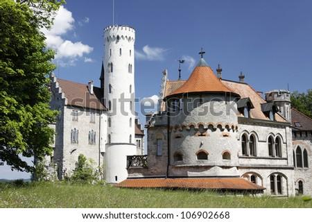 Beautiful medieval castle Lichtenstein, Germany