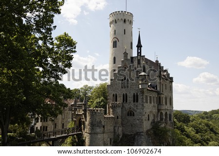 Beautiful medieval castle Lichtenstein, Germany