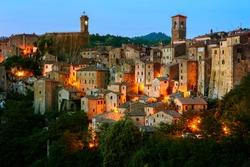 Beautiful medieval town in Tuscany, Sorano-(Grosseto, Tuscany, Italy)