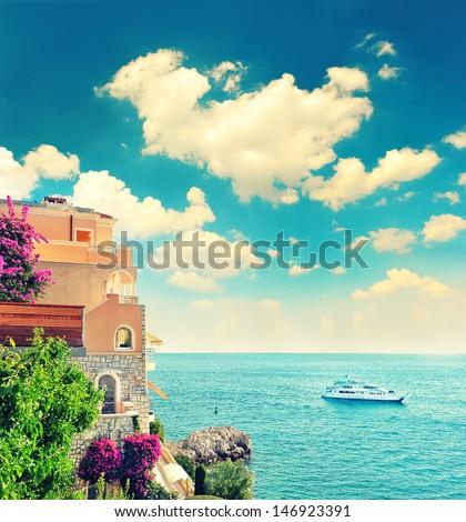 beautiful mediterranean beach...