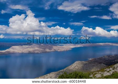 Beautiful Mediterranean islands as seen from the air