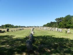 Beautiful menhir alignment (Carnac, Finistère, Bretagne, France, Europe)