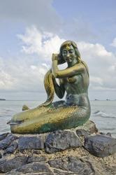 Beautiful mermaid in Songkhla, Thailand