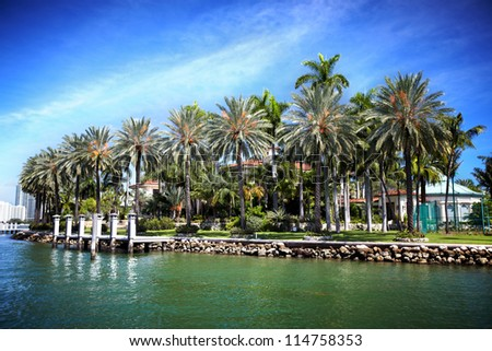 Beautiful miami landscapes. Travel destination.