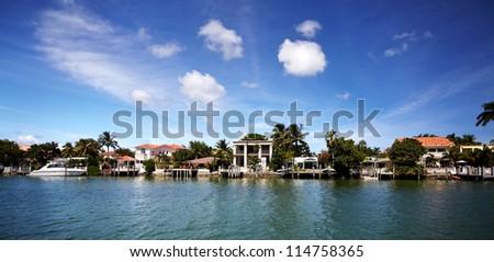 Beautiful miami landscapes. Travel destination.