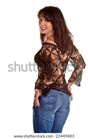 Beautiful mid-adult woman