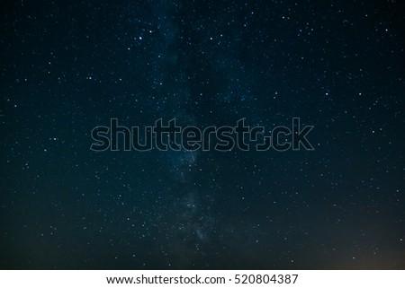 Beautiful milky way on a dark night sky with stars