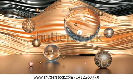 Beautiful minimalism abstraction background. 3d illustration, 3d rendering.