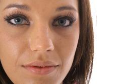 beautiful model face upclose