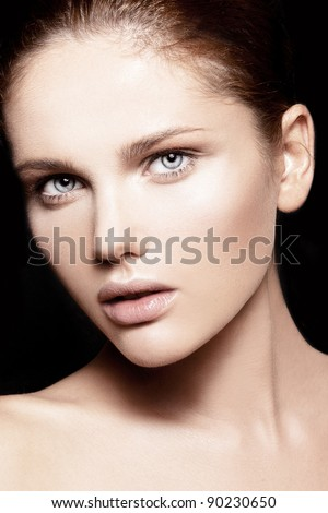 beautiful model with natural make-up