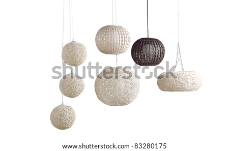 Beautiful modern design of rattan ceiling lamps